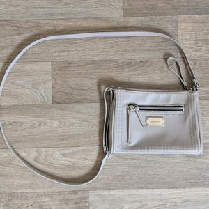 Nine West Taupe Small Crossbody Purse
